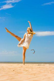 Dancing in beach